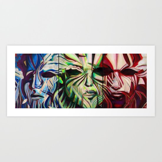Three Faces Art Print