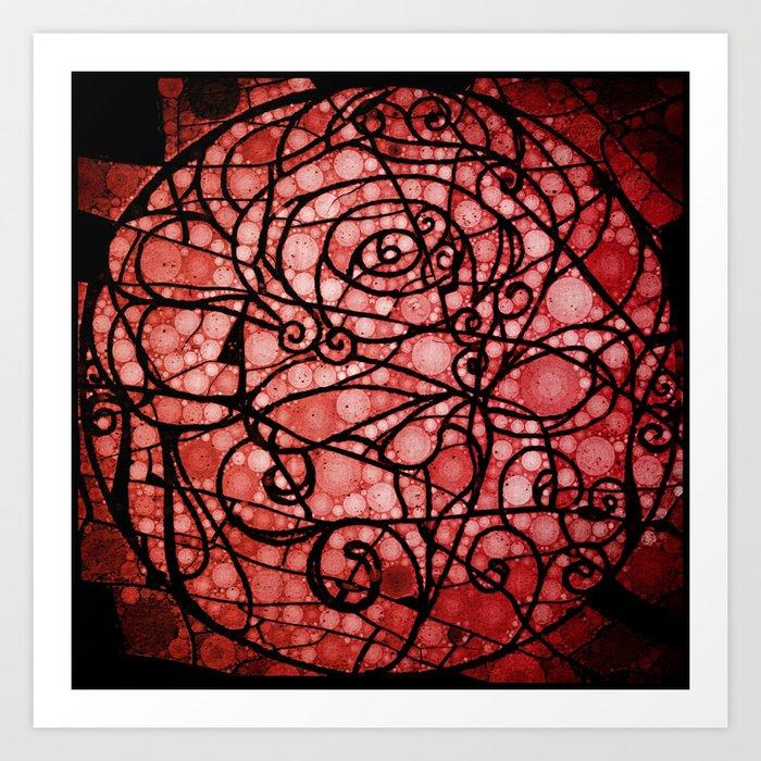 Scarred Rose Art Print