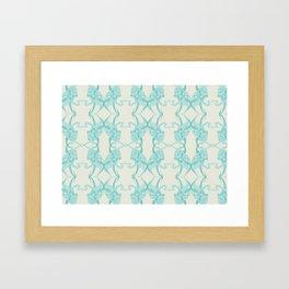 Blue Octacluar Octopus Framed Art Print