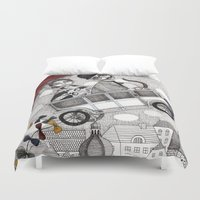 holiday Duvet Covers featuring Going on Holiday by Judith Clay