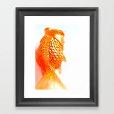 Fish fins Framed Art Print