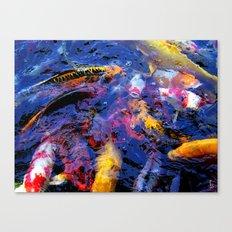Koi Frenzy I Canvas Print