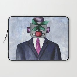Robot with Apple Laptop Sleeve