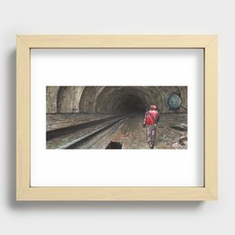 The tunnel Recessed Framed Print