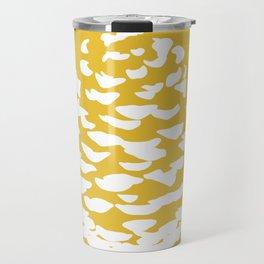 Pinecone Mustard Yellow Travel Mug