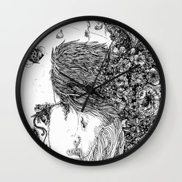 flowered words. Wall Clock