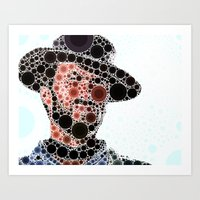 cowboy Art Prints featuring Cowboy by Cesar Peralta