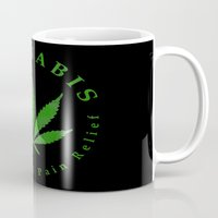 cannabis Mugs featuring Cannabis by PsychoBudgie