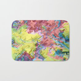 Lost in Thought; Fluid Abstract 56 Bath Mat