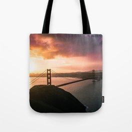 Golden Gate Bridge Sunrise Tote Bag