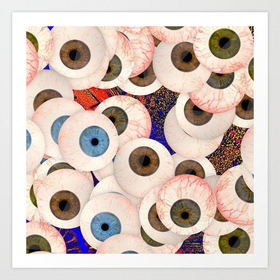 YEUX Art Print
