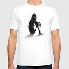 Still Mens Fitted Tee White SMALL