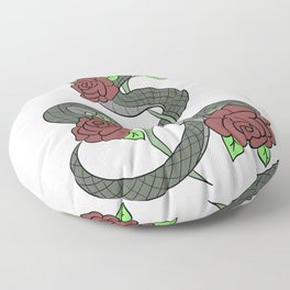 Snake Scarry Pet Animals Gift For Gothic Reptiles Lovers Floor Pillow