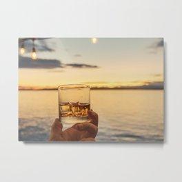 Cheers to the Sea Metal Print