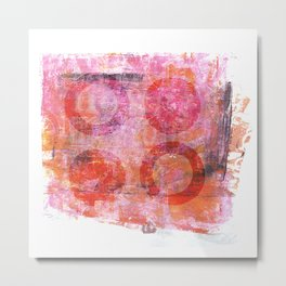 abstract circles painted artwork Metal Print