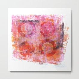 abstract circles painted artwork Metal Print