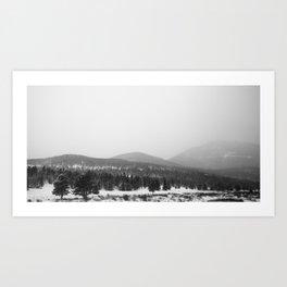 Colorado Winter Hills Art Print