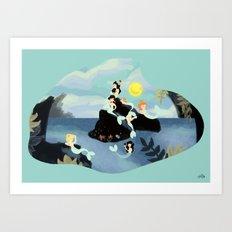 Mermaid Concert Art Print