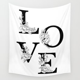 Love bloom Wall Tapestry