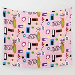 Mod Abstract Pink Wall Tapestry