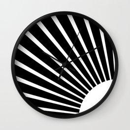 White rays Wall Clock