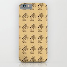 Ancient Headless Horseman Mythical Mythology Color Pattern iPhone Case