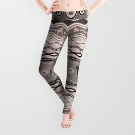 Boston Terrier - Decorative Pattern in pastels Leggings