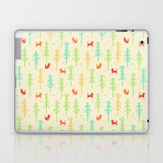 Foxes hiding in the forest Laptop & iPad Skin
