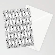 Diamond Pattern (B&W) Stationery Cards
