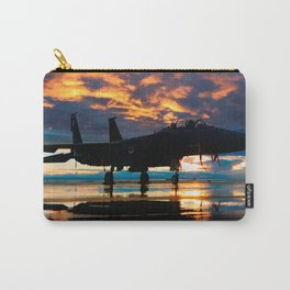 Fighter Jet Airplane at Sunset Military Gifts Carry-All Pouch