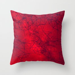 Red Galaxy Abstract Throw Pillow