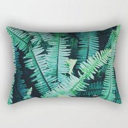 Botanic jungle leaf pattern Rectangular Pillow