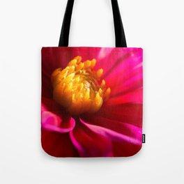 Sunlit Dark Pink Dahlia Tote Bag