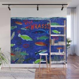Kiss My Wrasse Fish Humor Design Wall Mural