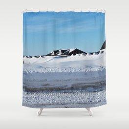 Snowdrift Motel Shower Curtain