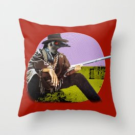 Clint Emu Throw Pillow