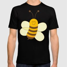 Cute Baby Bee MEDIUM Black Mens Fitted Tee