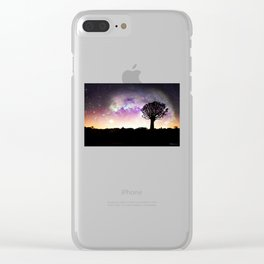 African galaxy skyline Clear iPhone Case