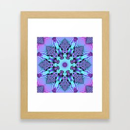 Kaleidoscope Patterns in purple, pink and mint Framed Art Print