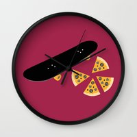 ninja turtles Wall Clocks featuring Teenage Mutant Ninja Turtles by FilmsQuiz