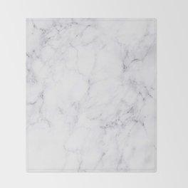Luxury White Marble Throw Blanket
