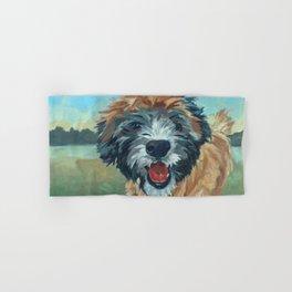 Wheaton Terrier Dog Portrait Hand & Bath Towel