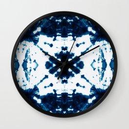 Velvet Shibori Blue Wall Clock