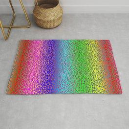 Wild Thing Rainbow Leopard Print Rug