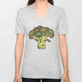 brilliant broccoli Unisex V-Neck