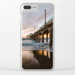 MANHATTAN BEACH PIER II Clear iPhone Case