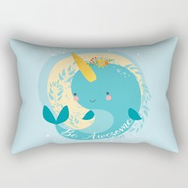 NARWHAL - BE AWESOME! Rectangular Pillow