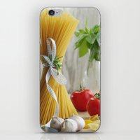 pasta iPhone & iPod Skins featuring delicious pasta by Tanja Riedel