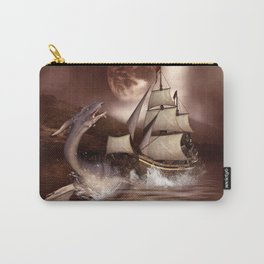 Awesome seadragon with ship Carry-All Pouch