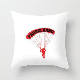 Do One Thing a Day Paragliding Adventure Paraglider Daredevil Gifts Throw Pillow